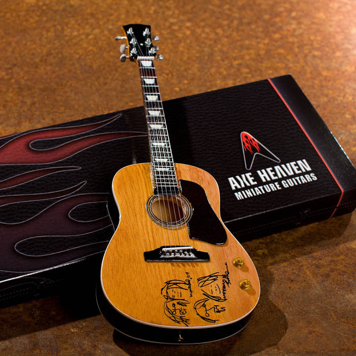 "Axe Heaven Miniature Guitar Replica Collectible Willie Nelson Signature ""Trigger"" Acoustic Model - Audioride"