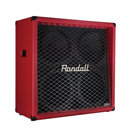 Randall RD412-V-RED 4x12 Guitar Speaker Cabinet Red