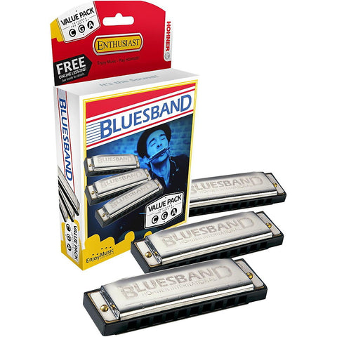 Hohner 3P1501BX Blues Band, Harmonica, Value Pack - C, G and A Keys