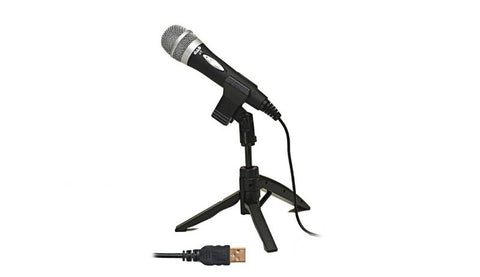 CAD Audio U1 USB CARDIOID DYNAMIC HANDHELD MICROPHONE W/TRIPOD STAND, 10FT USB CABLE