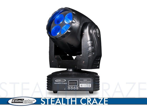 Eliminator Lighting Stealth Craze 40 Watt LED Moving Head Disco/DJ Light