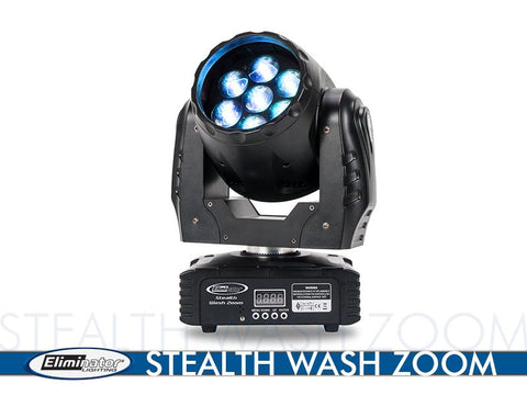 Eliminator Lighting Stealth Wash Zoom 84 Watt Moving Head Disco/DJ Light