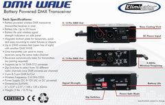 Eliminator Lighting DMX Wave Battery Powered Wireless Transceiver