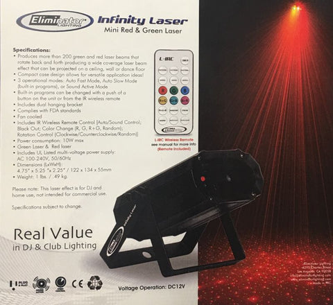 Eliminator Lighting Infinity Laser & Nucleus Laser Beam Disco/DJ Light Fixture