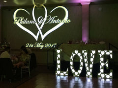 Eliminator Lighting Decor LOVE 45-inch Tall Letters with RGB LED Light