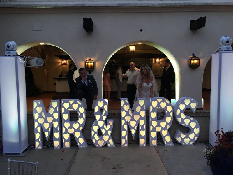 Eliminator Lighting Décor MR&MRS 45-inch Tall Letters with RGB LED Light
