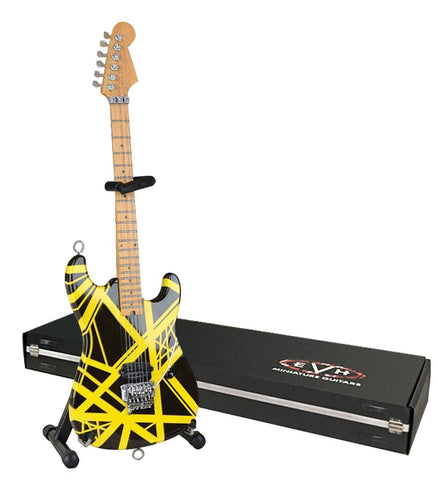 EVH Minature Guitars EVH002 Bumblebee (VH2) Miniature Replica Guitar, Black and Yellow