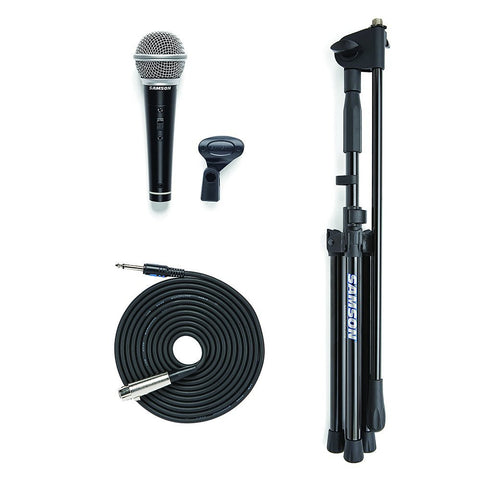Samson VP10 Vocal Microphone, Boom Stand and XLR Cable Value Pack