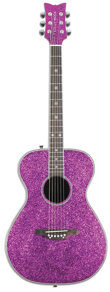 Daisy Rock DR6225 Pixie Acoustic-Electric Pink Sparkle Guitar