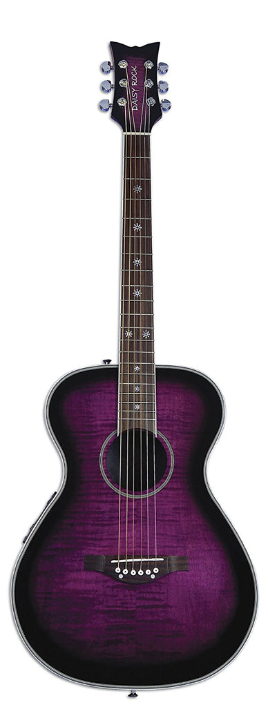 Daisy Rock DR6222 Pixie Acoustic-Electric Guitar, Plum Purple Burst