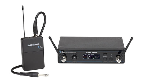Samson Concert 99 Guitar Frequency-Agile UHF Wireless System with GC32 Guitar Cable (D Band)