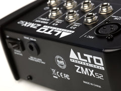 Alto Professional ZMX52 Analog Mixer (5-Channel Compact Mixer) - Audioride