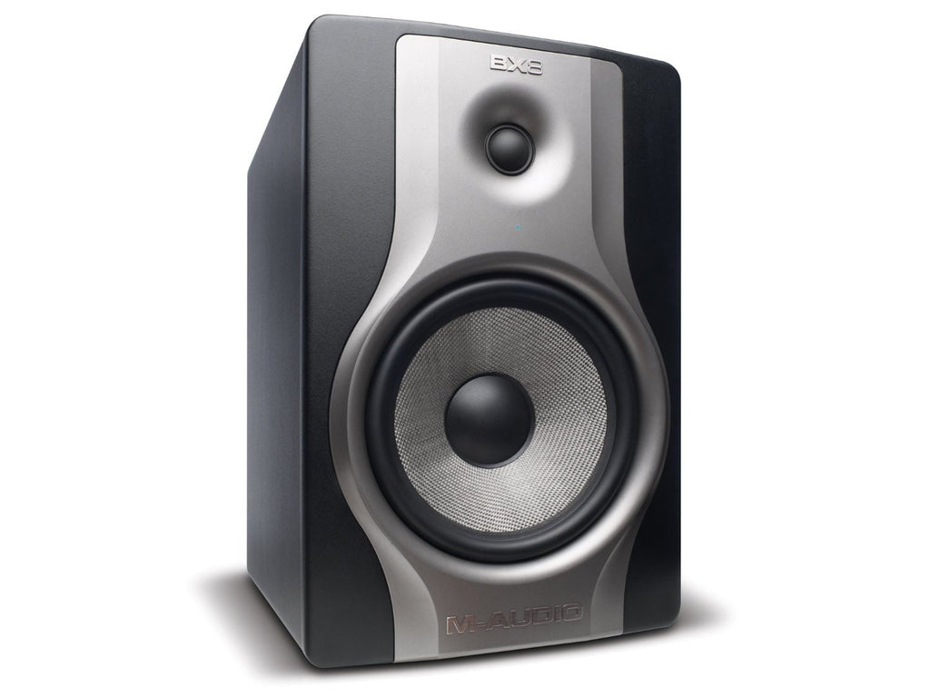 "M-Audio BX8 Carbon | 8"" Single Speaker Studio Monitor with Magnetic Shielding (130-watt Class A/B Power)"