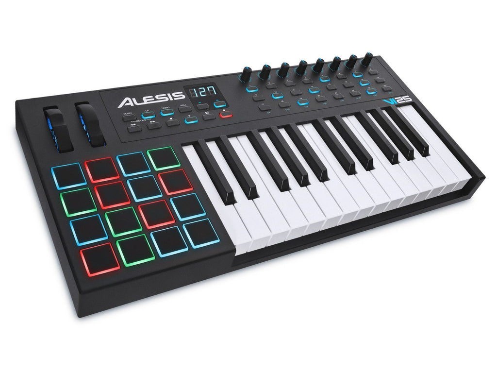 Alesis VI25 Advanced 25-Key USB MIDI Pad/Keyboard Controller - Audioride