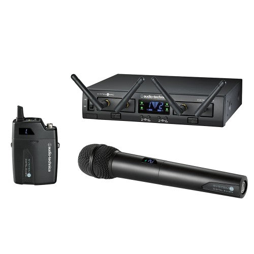 Audio-Technica ATW-1312 System 10 PRO Rack-Mount Digital UniPak / Handheld Combo System