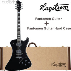 Hagstrom Fantomen Electric Guitar With Hard Case - Black