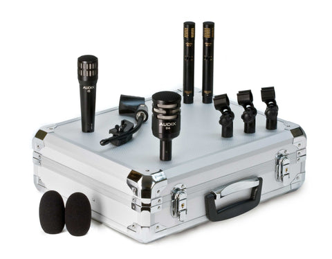 Audix DPQUAD 4-Piece Professional Instrument Multipattern Dynamic Microphones Package