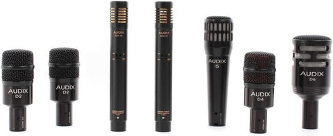 Audix DP7 7-Piece Professional Instrument Multipattern Dynamic Microphones Package