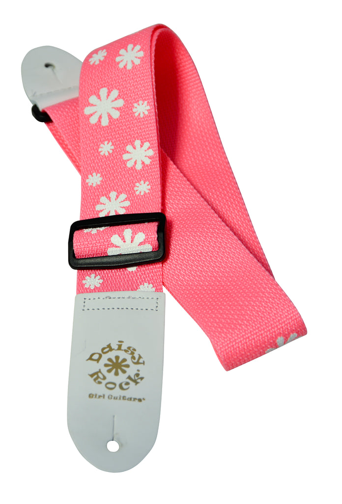 Daisy Rock DRS01 Poly Flower Adjustable Guitar Strap - Pink