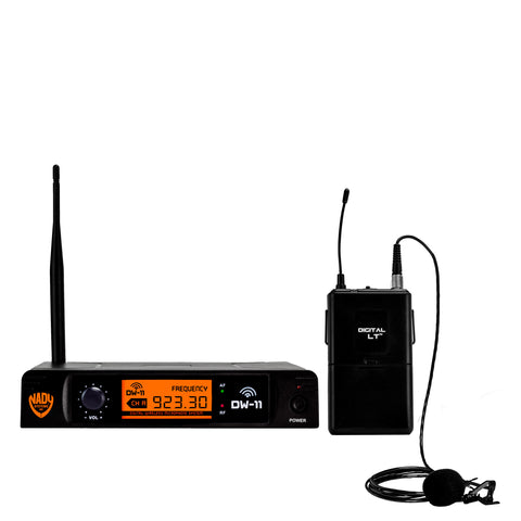 Nady DW-11 Single Transmitter Digital Lapel Wireless Microphone System with QPSK modulation