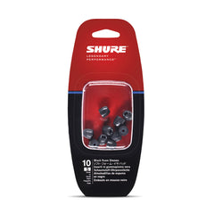 Shure EABKF1-10S Small Foam Sleeves (10 Included/5 Pair) for E3c, E4c, E5c, E500PTH, i3c, i4c & SE Earphones (Black)