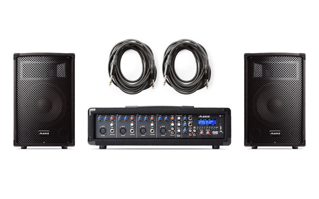 Alesis PA System In A Box - Complete 280-Watt System - Audioride
