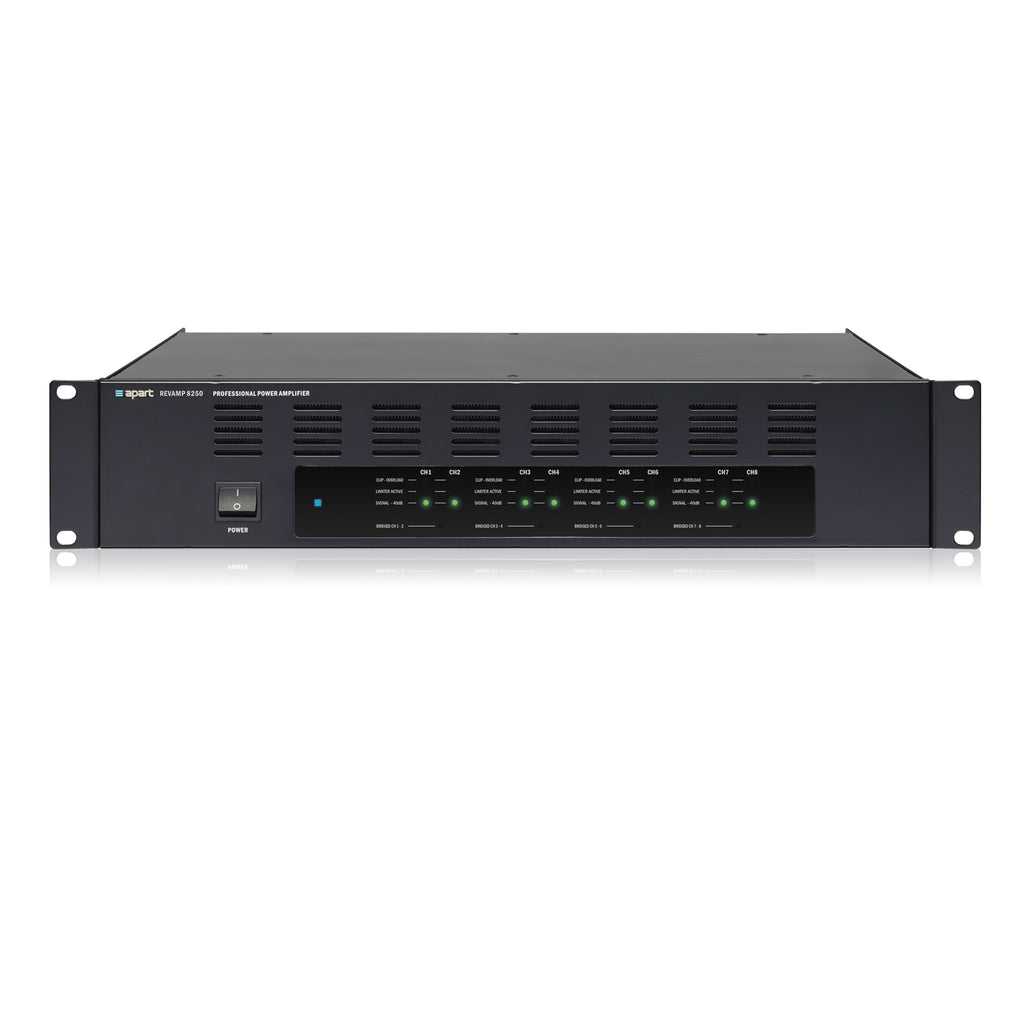 Apart Audio REVAMP8250 8-Channel Class-D Bridgeable Digital Power Amplifier