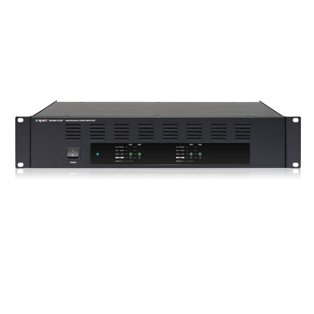 Apart Audio REVAMP4120T 4-Channel 100V Bridgeable Digital Power Amplifier