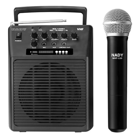 Nady WA-120BT-HT Wireless Portable Compact P.A Full-Range Speaker System with Built-in Amplifier