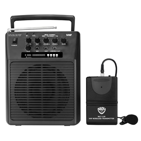 Nady WA-120BT-LT Wireless Portable Compact P.A Full-Range Speaker System with Built-in Amplifier
