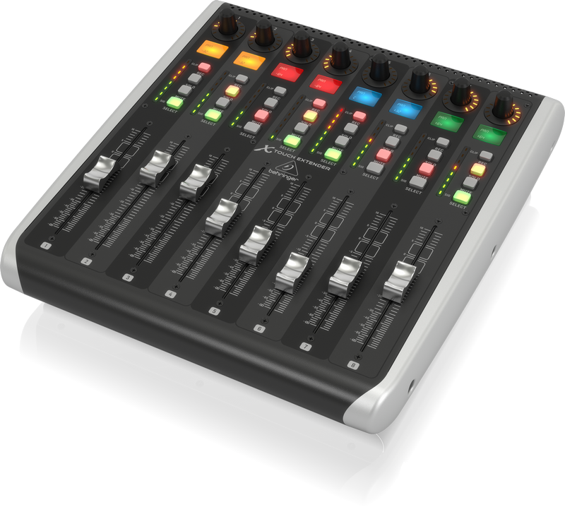 Behringer X-TOUCH EXTENDER with 8 Touch-Sensitive Motor Faders and Ethernet/USB Interfaces