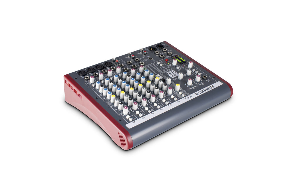 Allen & Heath AH-ZED10FX 10 Ch Multipurpose Live Recording Mixer with USB and FX
