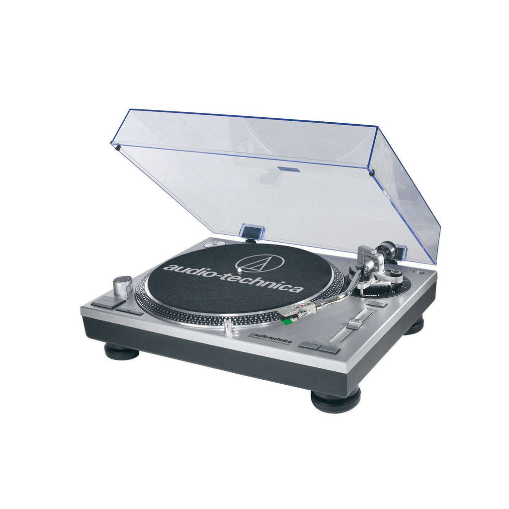 Audio-Technica Consumer AT-LP120-USB Direct Drive Professional DJ Turntable with USB Output (Silver)