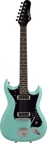 Hagstrom HII-ABE Retroscape Series H-II Electric Guitar - Aged Sky Blue