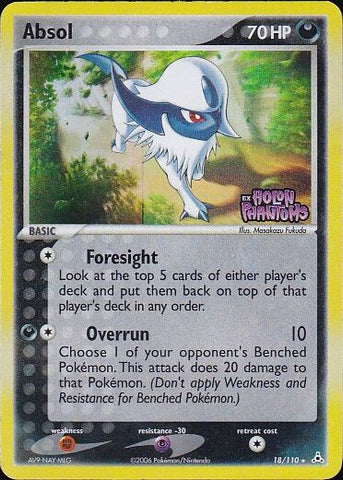 Absol - 18/110 Rare Reverse Holo, Pokemon Card Single, Gotta Collect Em All, product_collection], Pokemon