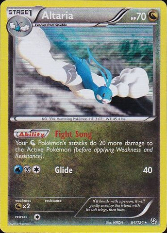 Altaria - 84/124 Rare Holo, Pokemon Card Single, Gotta Collect Em All, product_collection], Pokemon