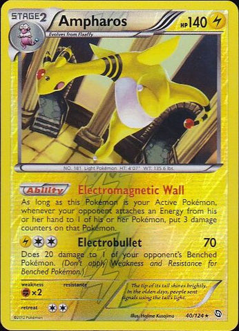 Ampharos - 40/124 Rare Reverse Holo, Pokemon Card Single, Gotta Collect Em All, product_collection], Pokemon