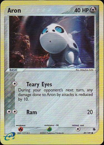 Aron - 49/109 Common Reverse Holo, Pokemon Card Single, Gotta Collect Em All, product_collection], Pokemon