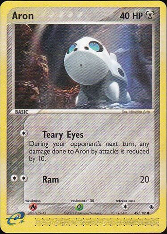 Aron - 49/109 Common, Pokemon Card Single, Gotta Collect Em All, product_collection], Pokemon