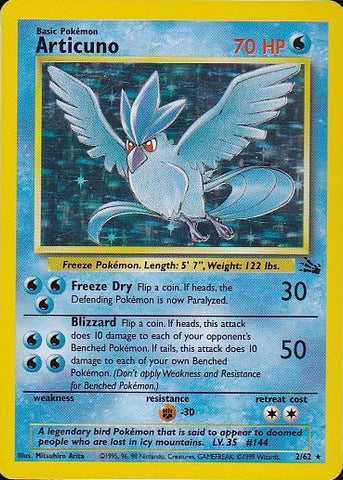 Articuno - 2/62 Rare Holo, Pokemon Card Single, Gotta Collect Em All, product_collection], Pokemon