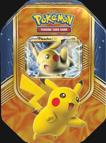 Pokémon TCG: Battle Heart Pikachu EX Tin