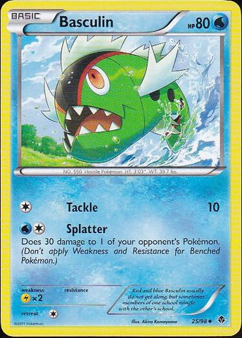 Basculin - 25/98 Uncommon, Pokemon Card Single, Gotta Collect Em All, product_collection], Pokemon