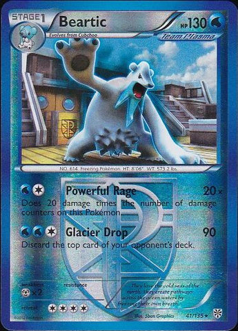 Beartic - 41/135 Rare Reverse Holo, Pokemon Card Single, Gotta Collect Em All, product_collection], Pokemon