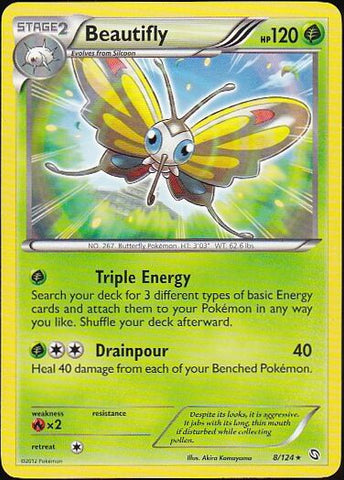 Beautifly - 8/124 Rare, Pokemon Card Single, Gotta Collect Em All, product_collection], Pokemon