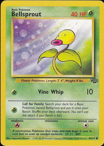 Bellsprout  - 49/64 Common, Pokemon Card Single, Gotta Collect Em All, product_collection], Pokemon