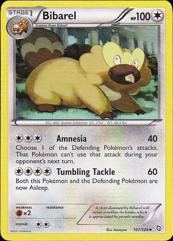 Bibarel - 107/124 Uncommon, Pokemon Card Single, Gotta Collect Em All, product_collection], Pokemon