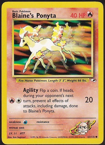 Blaine's Ponyta - 63/132 Common, Pokemon Card Single, Gotta Collect Em All, product_collection],Pokemon
