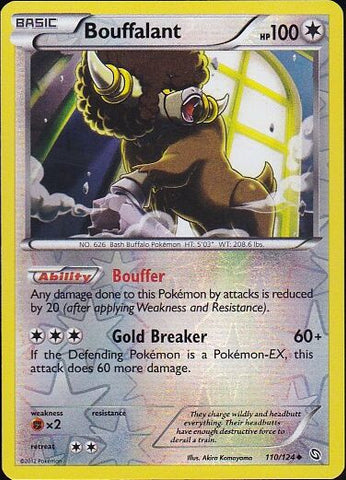 Bouffalant - 110/124 Uncommon Reverse HoloPokemon Card SingleGotta Collect 'Em All! Pokemon