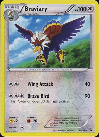 Braviary - 88/98 Rare Reverse Holo, Pokemon Card Single, Gotta Collect Em All, product_collection],Pokemon