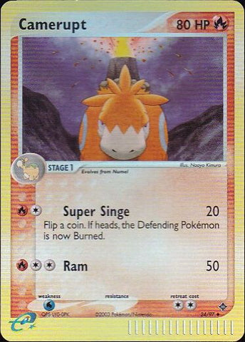 Camerupt - 24/97 Uncommon Reverse HoloPokemon Card SingleGotta Collect 'Em All! Pokemon
